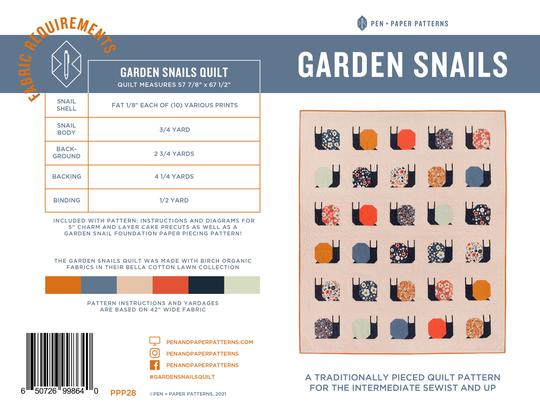 Garden Snails Quilt Pattern